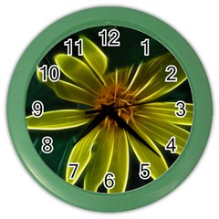 Yellow Wildflower Abstract Wall Clock (Color)