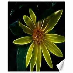 Yellow Wildflower Abstract Canvas 11  X 14  (unframed)