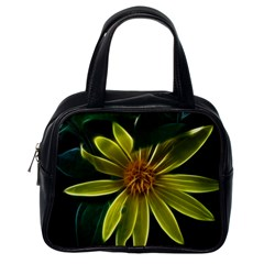 Yellow Wildflower Abstract Classic Handbag (One Side)