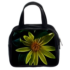 Yellow Wildflower Abstract Classic Handbag (two Sides)