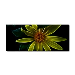 Yellow Wildflower Abstract Hand Towel