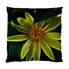 Yellow Wildflower Abstract Cushion Case (single Sided)