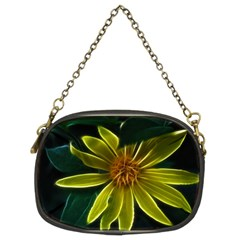 Yellow Wildflower Abstract Chain Purse (two Sided)