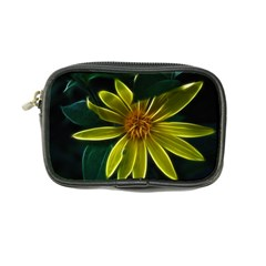 Yellow Wildflower Abstract Coin Purse