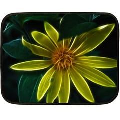 Yellow Wildflower Abstract Mini Fleece Blanket (Two Sided)