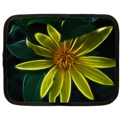 Yellow Wildflower Abstract Netbook Sleeve (xl)
