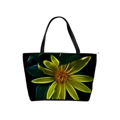 Yellow Wildflower Abstract Large Shoulder Bag