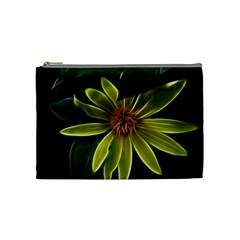 Yellow Wildflower Abstract Cosmetic Bag (medium)