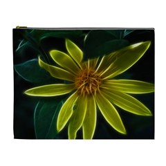 Yellow Wildflower Abstract Cosmetic Bag (xl)