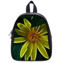 Yellow Wildflower Abstract School Bag (small)