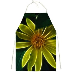 Yellow Wildflower Abstract Apron
