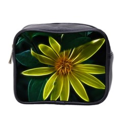 Yellow Wildflower Abstract Mini Travel Toiletry Bag (two Sides)