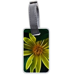 Yellow Wildflower Abstract Luggage Tag (Two Sides)