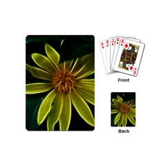 Yellow Wildflower Abstract Playing Cards (Mini)