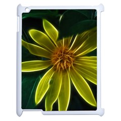Yellow Wildflower Abstract Apple iPad 2 Case (White)