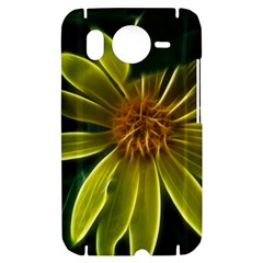 Yellow Wildflower Abstract HTC Desire HD Hardshell Case