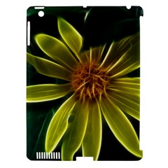 Yellow Wildflower Abstract Apple iPad 3/4 Hardshell Case (Compatible with Smart Cover)