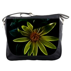 Yellow Wildflower Abstract Messenger Bag