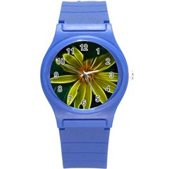 Yellow Wildflower Abstract Plastic Sport Watch (Small)