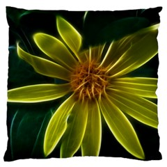 Yellow Wildflower Abstract Large Cushion Case (Two Sided)