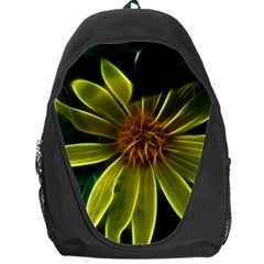 Yellow Wildflower Abstract Backpack Bag