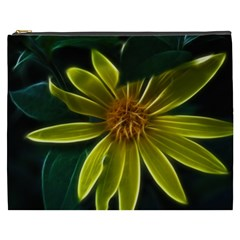Yellow Wildflower Abstract Cosmetic Bag (XXXL)