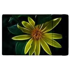 Yellow Wildflower Abstract Apple iPad 2 Flip Case