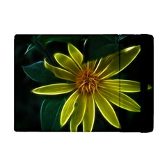 Yellow Wildflower Abstract Apple Ipad Mini Flip Case