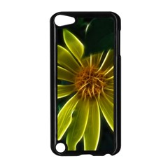 Yellow Wildflower Abstract Apple Ipod Touch 5 Case (black)