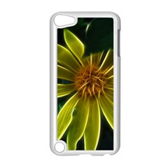 Yellow Wildflower Abstract Apple Ipod Touch 5 Case (white)