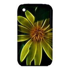 Yellow Wildflower Abstract Apple iPhone 3G/3GS Hardshell Case (PC+Silicone)