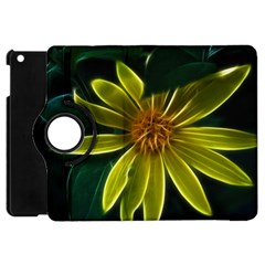 Yellow Wildflower Abstract Apple Ipad Mini Flip 360 Case