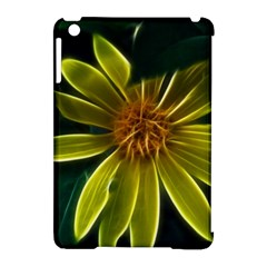 Yellow Wildflower Abstract Apple Ipad Mini Hardshell Case (compatible With Smart Cover)