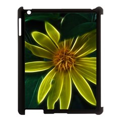 Yellow Wildflower Abstract Apple Ipad 3/4 Case (black)