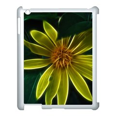 Yellow Wildflower Abstract Apple iPad 3/4 Case (White)