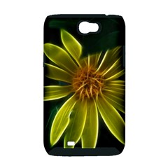 Yellow Wildflower Abstract Samsung Galaxy Note 2 Hardshell Case (PC+Silicone)
