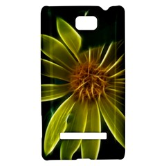 Yellow Wildflower Abstract HTC 8S Hardshell Case