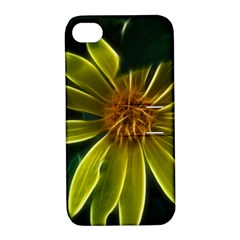 Yellow Wildflower Abstract Apple iPhone 4/4S Hardshell Case with Stand