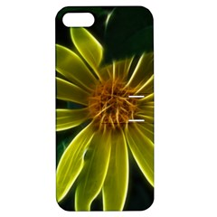 Yellow Wildflower Abstract Apple iPhone 5 Hardshell Case with Stand