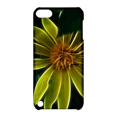 Yellow Wildflower Abstract Apple iPod Touch 5 Hardshell Case with Stand