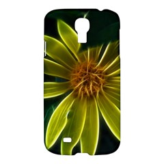 Yellow Wildflower Abstract Samsung Galaxy S4 I9500/I9505 Hardshell Case