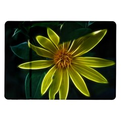Yellow Wildflower Abstract Samsung Galaxy Tab 10.1  P7500 Flip Case
