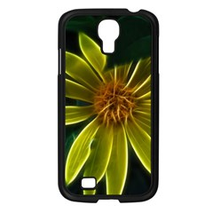 Yellow Wildflower Abstract Samsung Galaxy S4 I9500/ I9505 Case (Black)