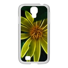 Yellow Wildflower Abstract Samsung Galaxy S4 I9500/ I9505 Case (white)