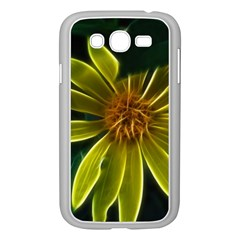 Yellow Wildflower Abstract Samsung Galaxy Grand DUOS I9082 Case (White)