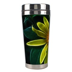 Yellow Wildflower Abstract Stainless Steel Travel Tumbler