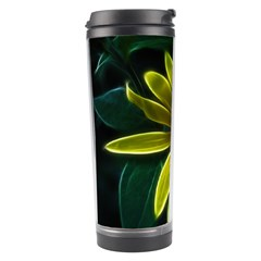Yellow Wildflower Abstract Travel Tumbler
