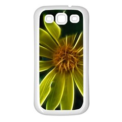 Yellow Wildflower Abstract Samsung Galaxy S3 Back Case (White)