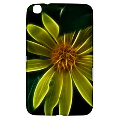 Yellow Wildflower Abstract Samsung Galaxy Tab 3 (8 ) T3100 Hardshell Case