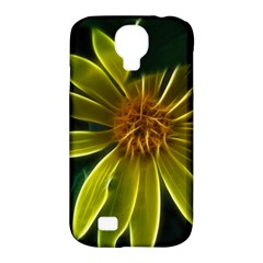 Yellow Wildflower Abstract Samsung Galaxy S4 Classic Hardshell Case (pc+silicone)